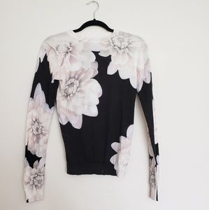 TED BAKER LONDON Monochrome Traze Floral Sweater